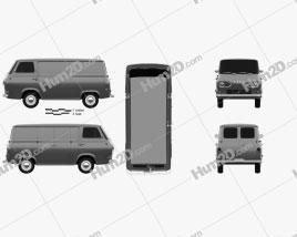 Ford E-Series Econoline Panel Van 1961 clipart