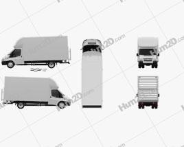 Ford Transit Luton Tailift Van 2012 clipart