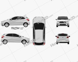 Ford Ka concept 2013 car clipart