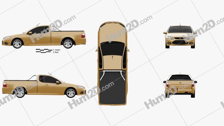 Ford FG Falcon XR6 UTE 2011 car clipart
