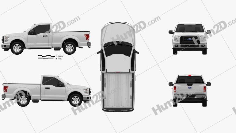 Ford F-150 Regular Cab XLT 2014 car clipart