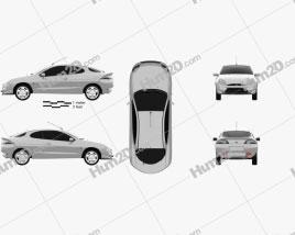 Ford Puma 1997 car clipart