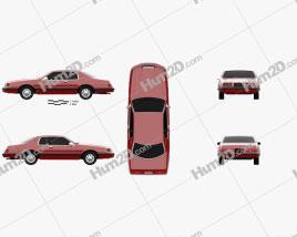Ford Thunderbird 1983 car clipart