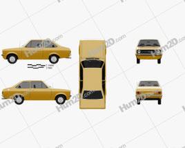 Ford Escort (EU) 1975 car clipart