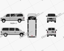 Ford E-Series Passenger Van 1998 clipart