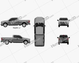 Ford F-150 Super Cab XLT 2014 car clipart