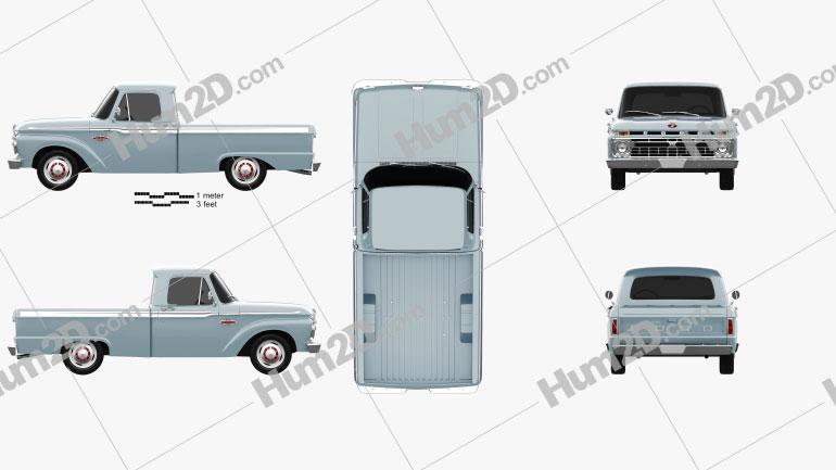 Ford F-100 1966 car clipart