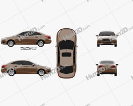 Ford Escort 2014 car clipart