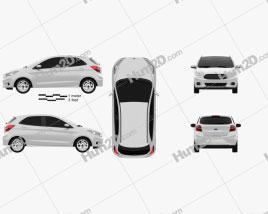 Ford Ka 2014 car clipart