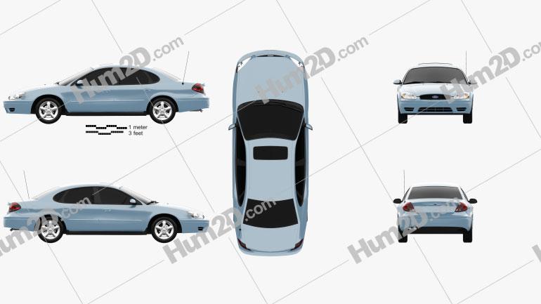 Ford Taurus 2000 car clipart