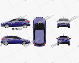 Ford Focus Schrägheck 2014 car clipart