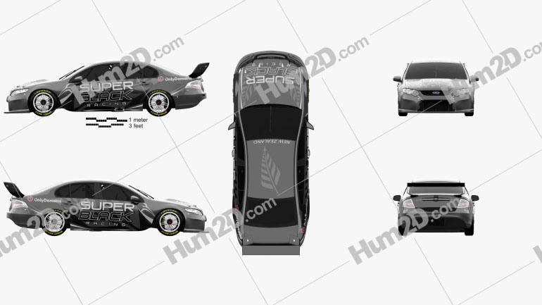 Ford Falcon (FG) V8 Supercars 2014 Black car clipart
