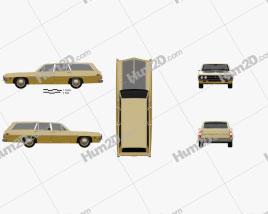 Ford Torino 500 Station Wagon 1971 car clipart