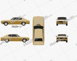 Ford Capri RS 2600 1970 car clipart