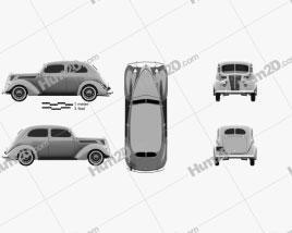 Ford V8 Model 78 Standard (78-700A) Tudor Sedan 1937