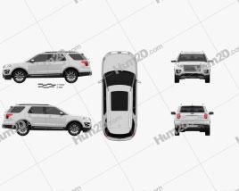 Ford Explorer (U502) Platinum 2015 car clipart