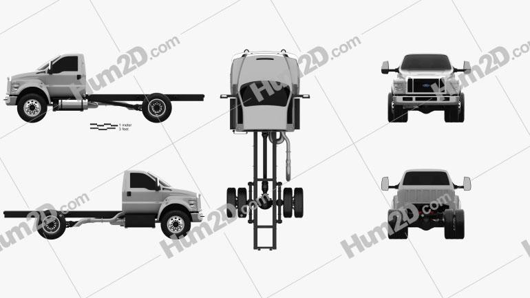 Ford F-650 Regular Cab Chassis 2016 Imagem Clipart