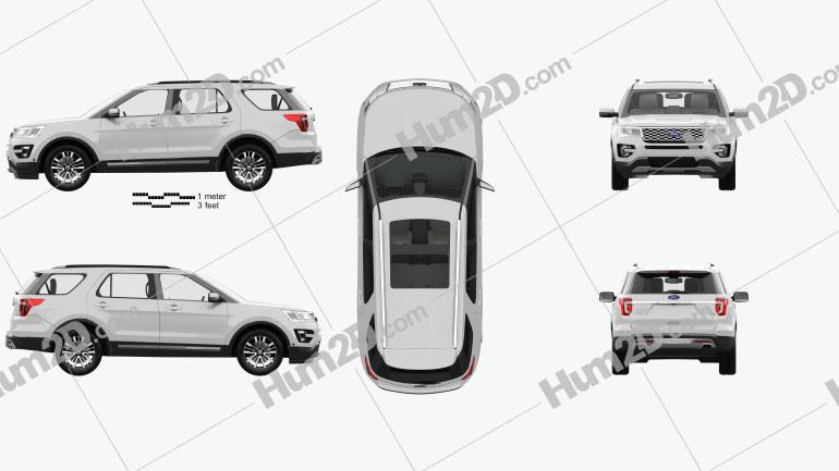 Ford Explorer (U502) Platinum with HQ interior 2015 car clipart