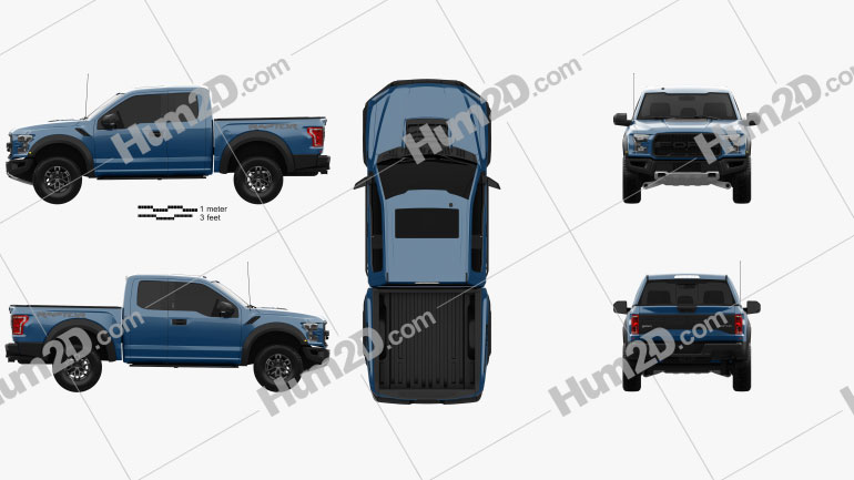 Ford F-150 Super Cab Raptor 2017 car clipart