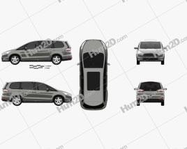 Ford Galaxy 2015 clipart