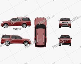 Ford Expedition EL Platinum 2015 car clipart