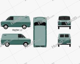 Ford Transit Panel Van 1965 clipart
