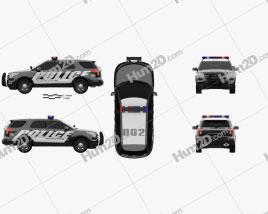 Ford Explorer Police Interceptor Utility 2010 car clipart