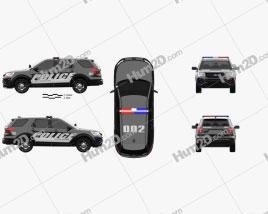 Ford Explorer Police Interceptor Utility 2016 car clipart