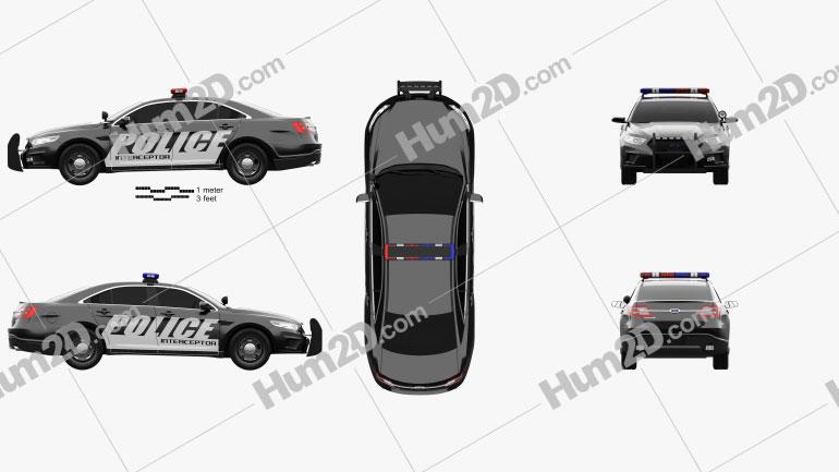 Ford Taurus Police Interceptor Sedan 2013 car clipart