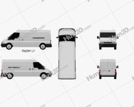 Ford Transit Panel Van 2000 clipart