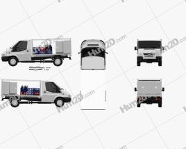 Ford Transit Milk Float Truck 2012 Clipart
