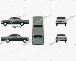 Ford Consul Capri 1961 car clipart