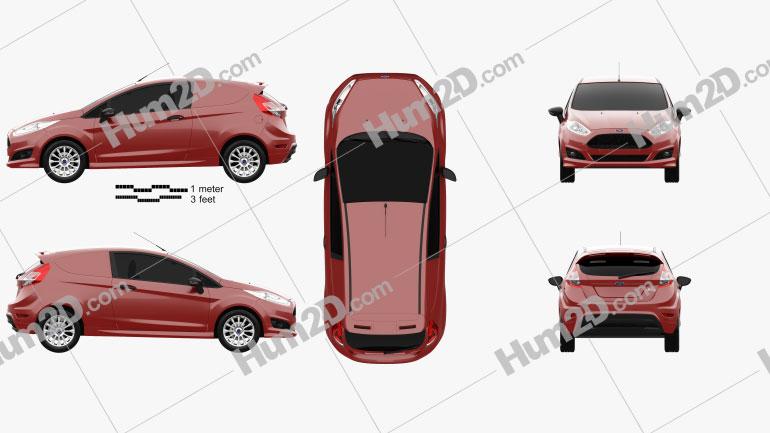 Ford Fiesta Van 2014 car clipart