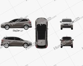 Ford Grand C-Max 2015 clipart