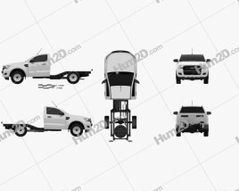Ford Ranger Einzelkabine Chassis XL 2015 car clipart