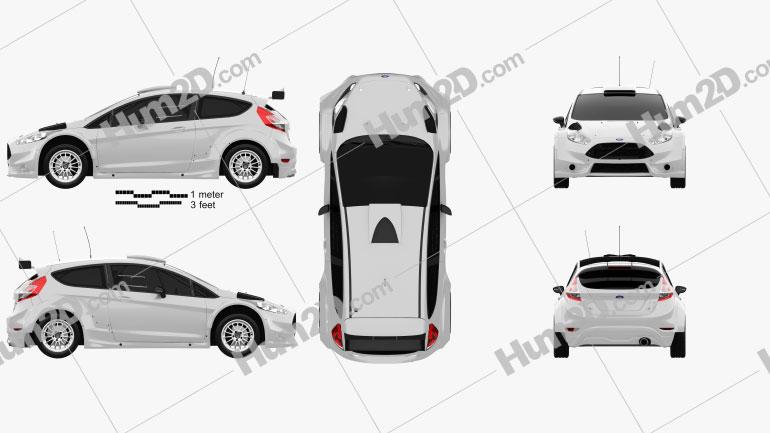 Ford Fiesta R5 3-door 2014 car clipart