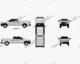 Ford F-150 Super Crew Cab XL 2014 car clipart
