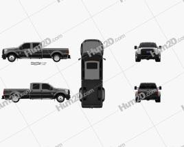 Ford F-450 Crew Cab XL 2015 car clipart
