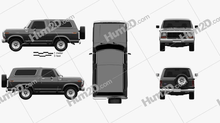 Ford Bronco 1978 Imagem Clipart