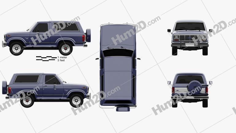 Ford Bronco 1982 car clipart