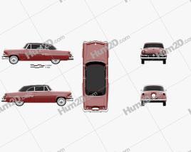 Ford Crestline Sunliner 1954 car clipart