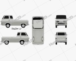 Ford E-Series Econoline Pickup 1963 car clipart