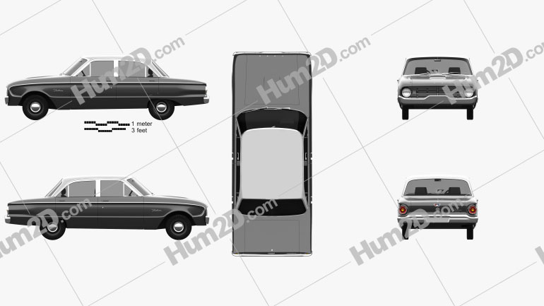 Ford Falcon 1960 car clipart