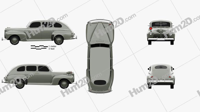 Ford V8 Super Deluxe Tudor Sedan Army Staff Car 1942
