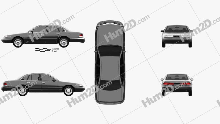 Ford Crown Victoria 1995 car clipart