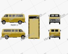 Ford E-Series Econoline Club Wagon 1971 clipart