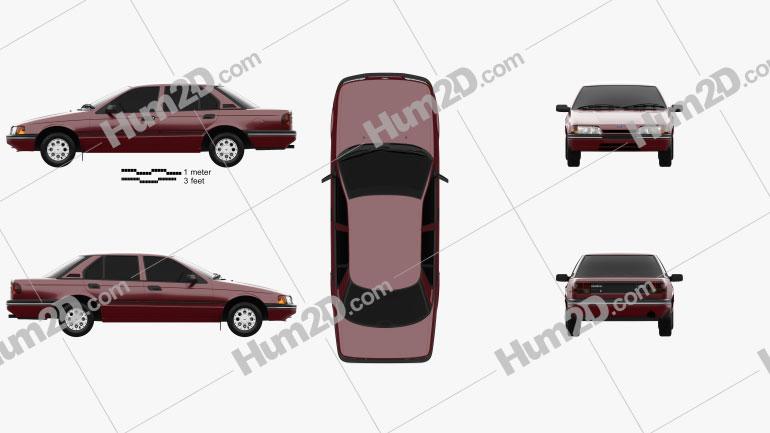 Ford Falcon 1988 car clipart
