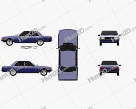 Ford Falcon 1979 car clipart