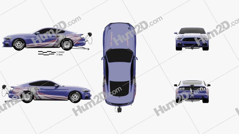 Ford Mustang Cobra Jet 2016 car clipart
