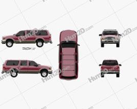 Ford Excursion 1999 car clipart
